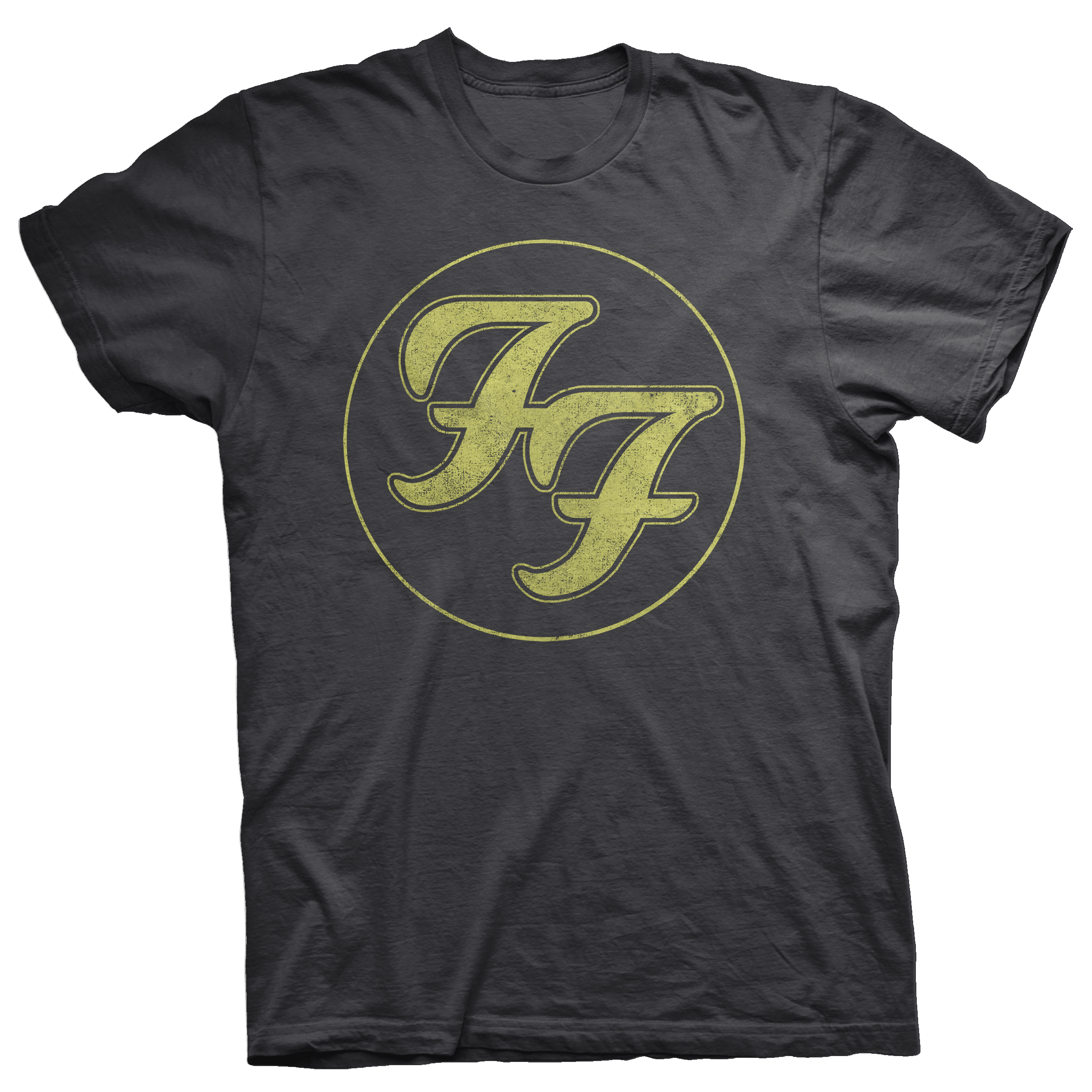 rockklassiker foo fighters tshirt ff logo circle